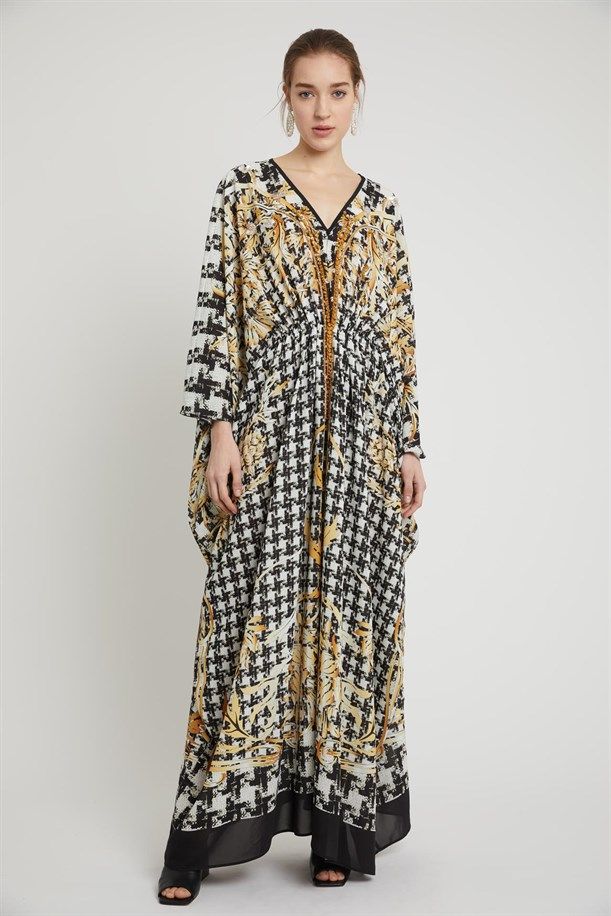 Patterned Empirme Dress