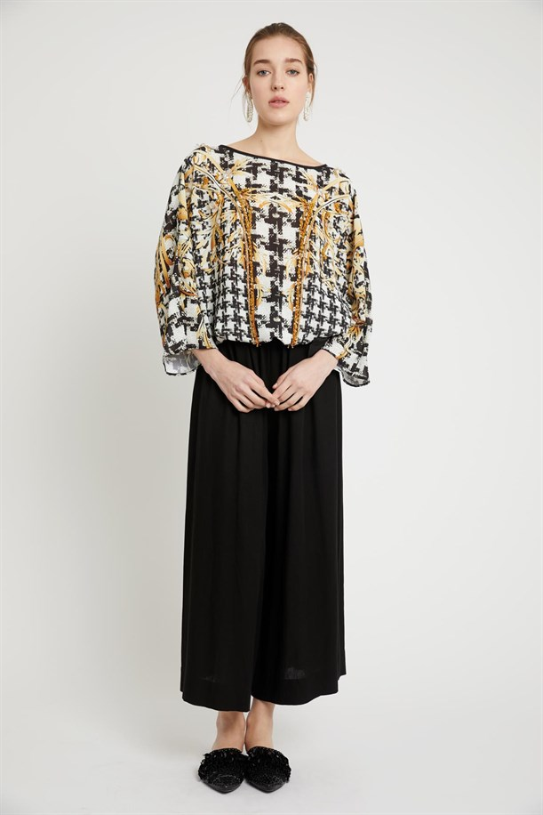 Patterned Empir Blouse