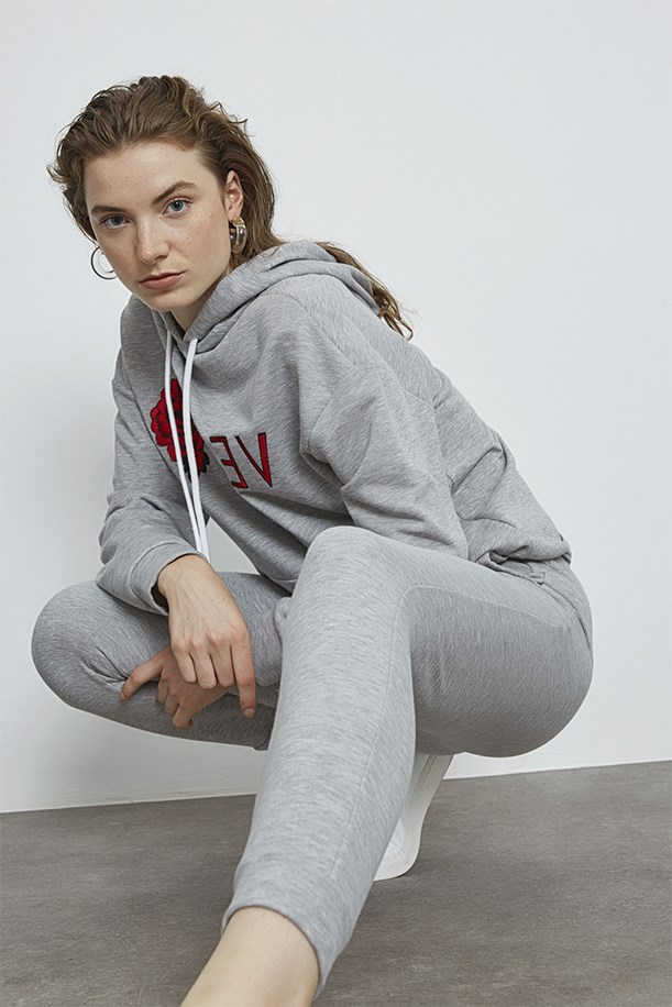 Tracksuit With Rose Embroidery