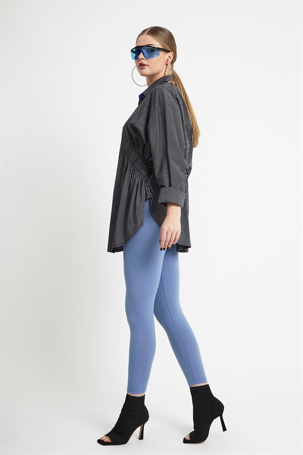 Blue Buttoned Tunic
