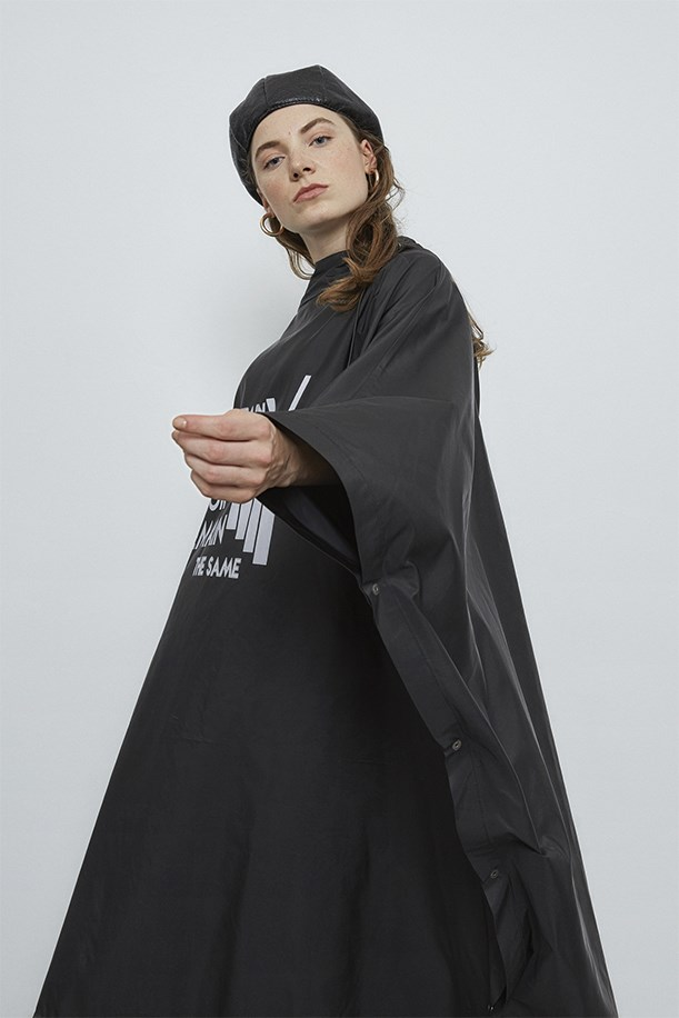 Printed Hooded Raincoat
