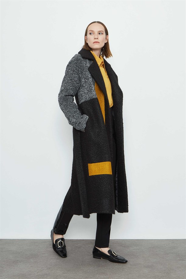 Color Detailed Long Coat
