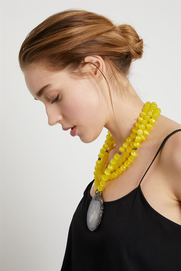 Yellow Stone Necklace