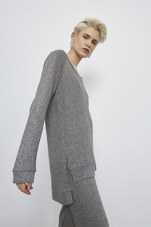 V - Neck Knitwear Tunic